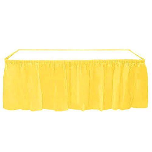 Sarı Plastik Masa Eteği (75x426 cm), fiyatı