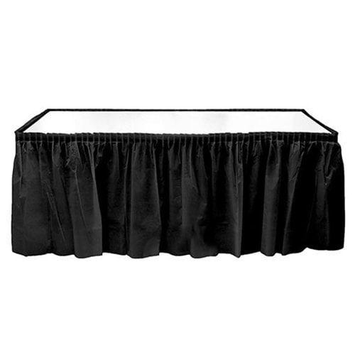 Siyah Plastik Masa Eteği (75x426 cm)