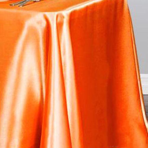 Turuncu Masa Örtüsü Saten Lüks 150x205 cm, fiyatı