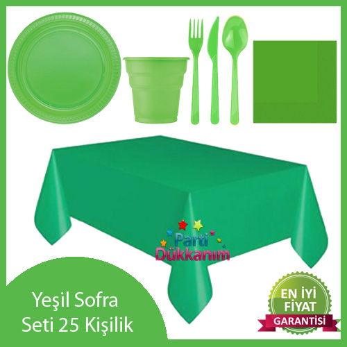 Yeşil Parti Seti 25 Kişilik