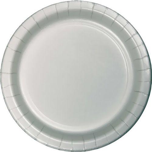 Gümüş Gri Karton Tabak Lüks (8 adet)