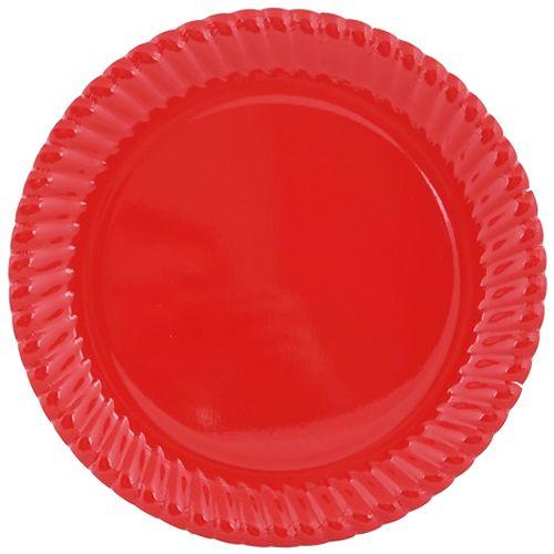 Kırmızı Karton Tabak (8 adet)