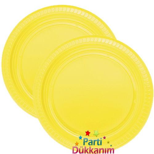 Sarı Plastik Tabak Lüks (25 adet)