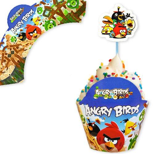 Angry Birds Cupcake Süsü (10 adet)