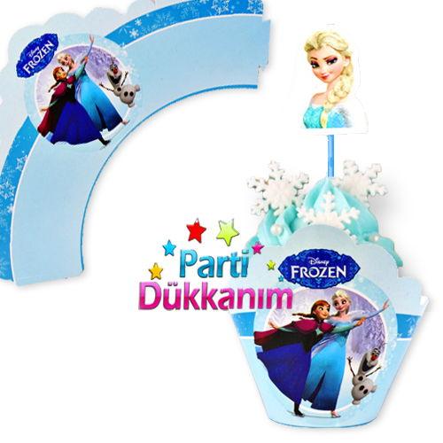 Frozen Cupcake Süsü (10 adet)