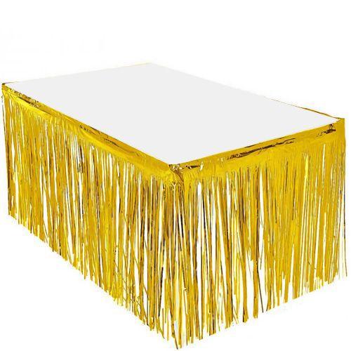 Gold Püsküllü Masa Eteği 75*400 cm