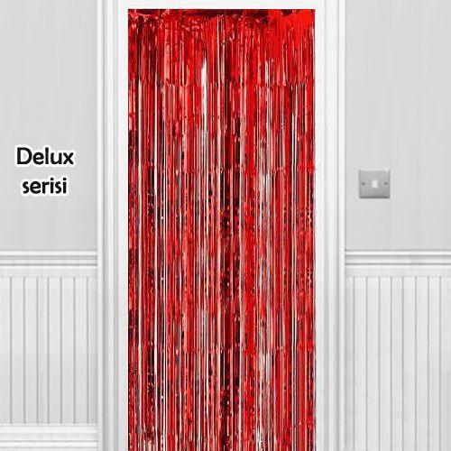 Işıltılı Duvar ve Kapı Perdesi Kırmızı 90*200 cm, fiyatı