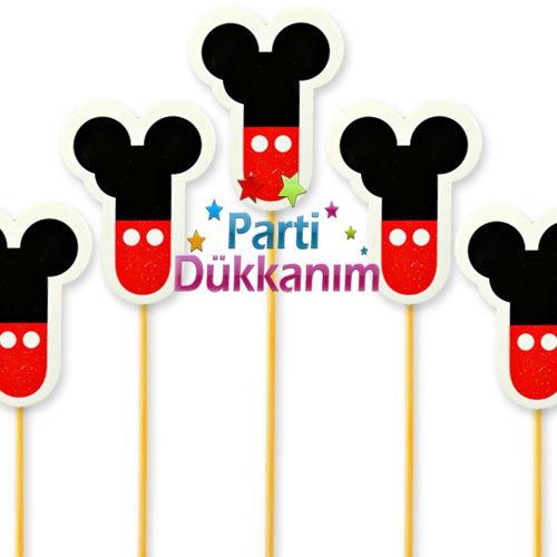 Mickey Mouse Figürlü 1 Yaş Çubuk (10 Adet)