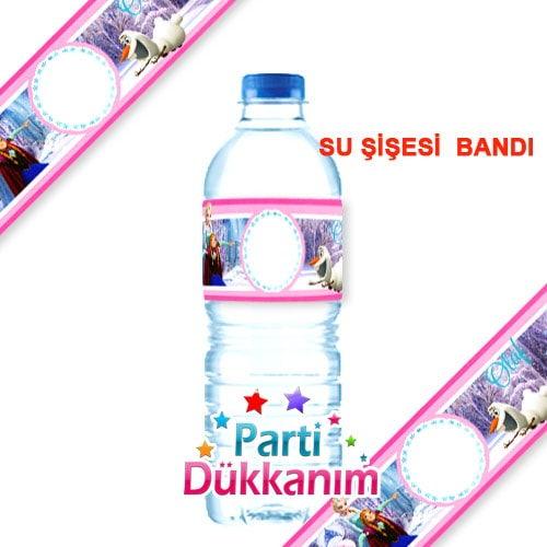 Karlar ülkesi Prensesi Su şişesi Bandı 18 Adet Parti Dükkanım