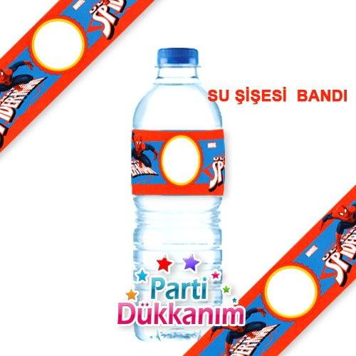 Spiderman Su şişesi Bandı 18 Adet Parti Dükkanım