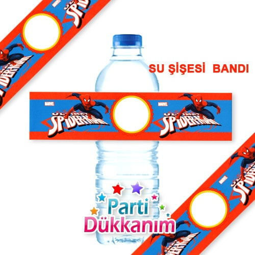 Spiderman Su Şişesi Bandı 18 Adet, fiyatı