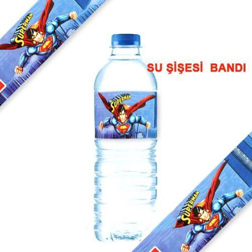 Superman Su Şişesi Bandı 10 Adet