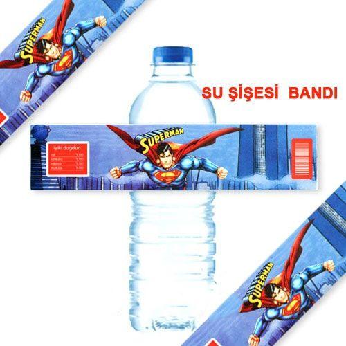 Superman Su Şişesi Bandı 10 Adet, fiyatı