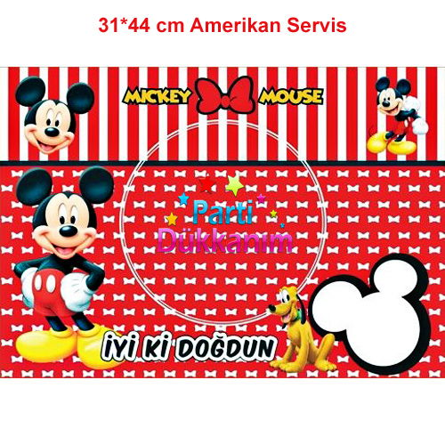 Mickey Mouse Amerikan Servis (8 Adet)