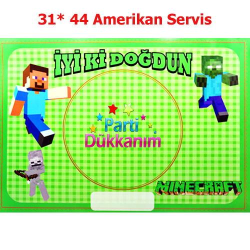 Minecraft Amerikan Servis 8 Adet Parti Dükkanım