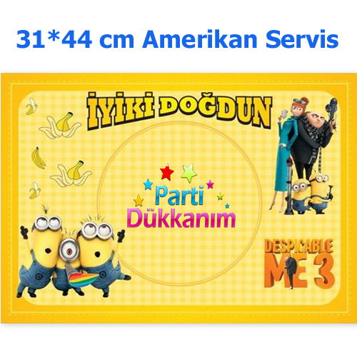 Minions Amerikan Servis (8 Adet)