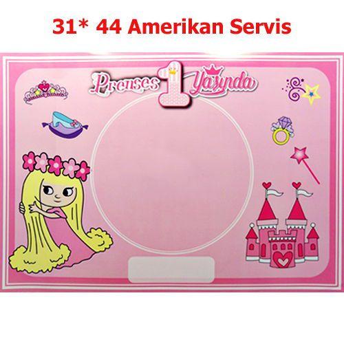 Prenses 1 Yaşında Amerikan Servis (8 Adet)
