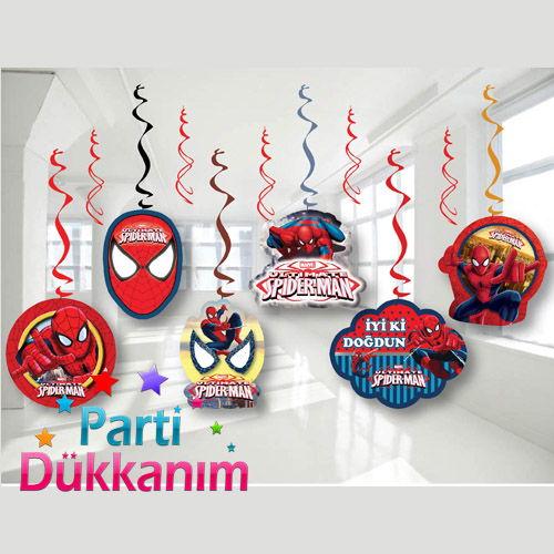 Spiderman Asmalı Tavan Süsü (6 Adet)