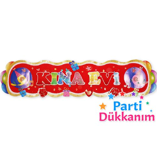 Kına Evi Simli Kapı Süsü (79 cm)