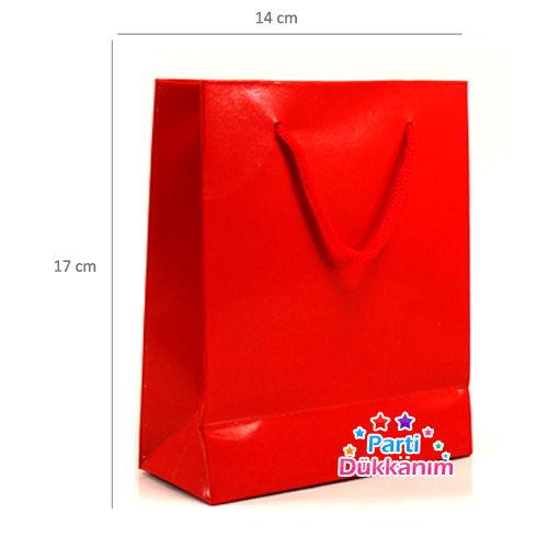 Karton Çanta Kırmızı 14*17 cm