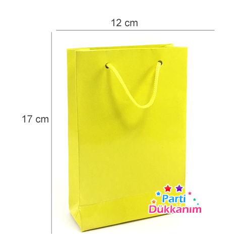 Karton Çanta Sarı 25 Adet