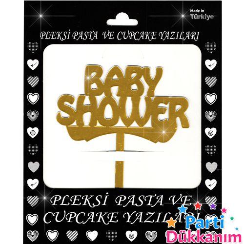 Baby Shower Pleksi Pasta Süsü (13x13 cm), fiyatı