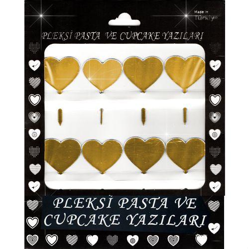 Kalp Pleksi Pasta/Kek Süsü (6x4 cm), fiyatı