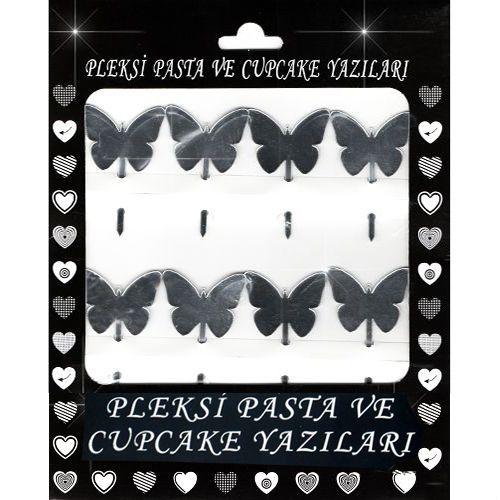 Kelebek Pleksi Pasta/Kek Süsü (6x4 cm), fiyatı
