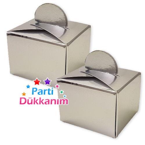 Lokum Kutusu Gümüş (50 adet), fiyatı