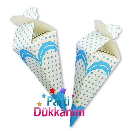 Mavi Puantiyeli Şeker, Lokum Külahı (25 adet), fiyatı