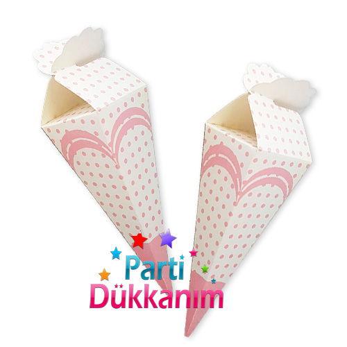 Pembe Puantiyeli Şeker, Lokum Külahı (10 adet)