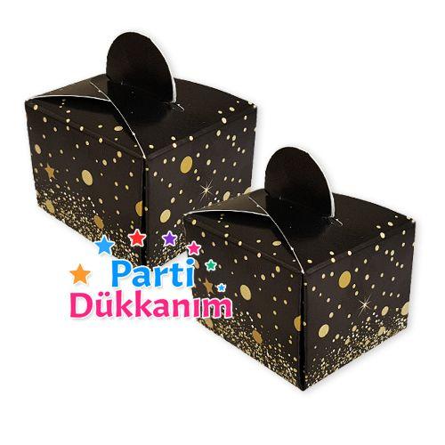Siyah Üzeri Gold Lokum Kutusu (50 adet), fiyatı