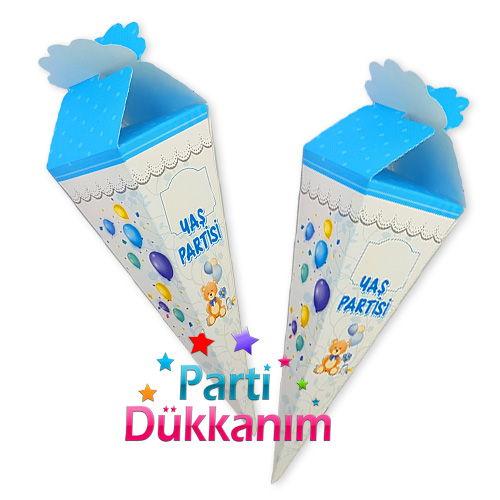 Yaş Partisi Şeker, Lokum Külahı (25 adet) Mavi