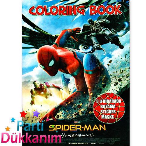 Spiderman Boyama Kitabi Sticker Hediyeli