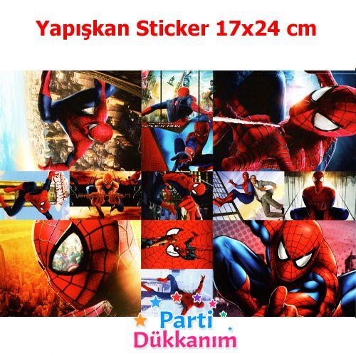 6 Adet Orumcek Adam Spiderman Kirmizi Karton Maske
