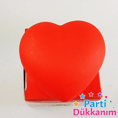 Dekoratif Işıklı Kırmızı Kalp 7 cm