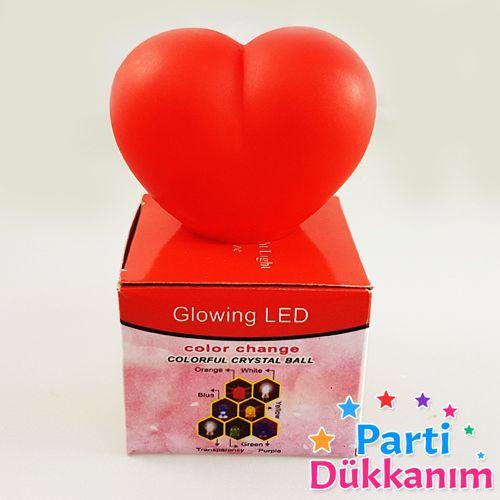 Dekoratif Işıklı Kırmızı Kalp