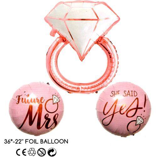 Düğün Yüzük Folyo Balon 3'lü Set, fiyatı