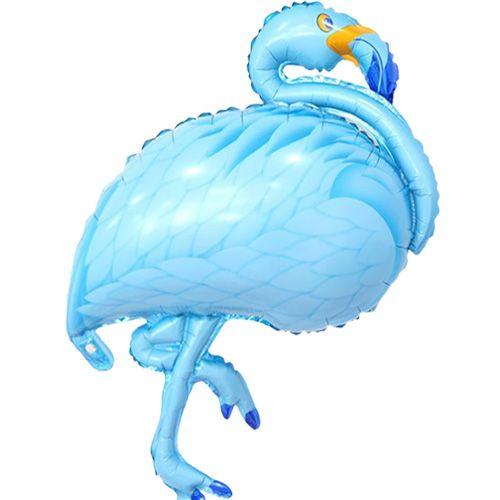 Flamingo Folyo Balon Mavi (100x50 cm), fiyatı