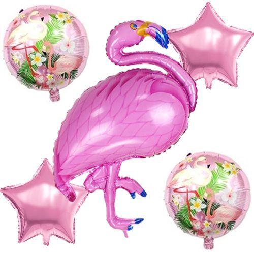Flamingo Folyo Balon Set (5 adet)