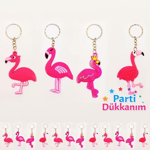 Flamingo Hediyelik Anahtarlık 12 Adet