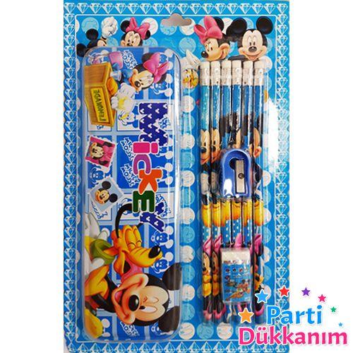 Mickey-Minnie Hediyelik Kırtasiye Seti (9 Parça)
