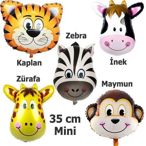 Safari Sevimli Hayvanlar Folyo Balon Seti (35 cm) 6 Adet, fiyatı