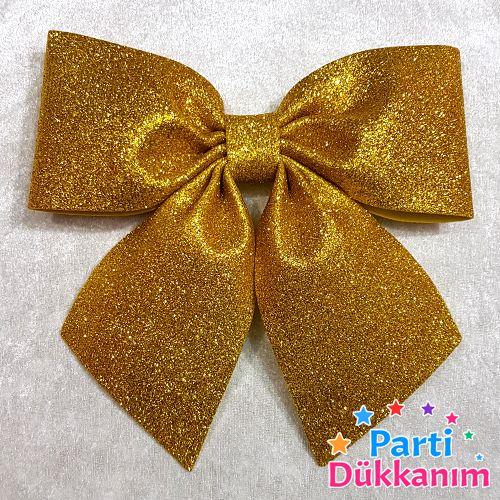 Gold Fiyonk Simli Eva Süs (20x22 cm), fiyatı