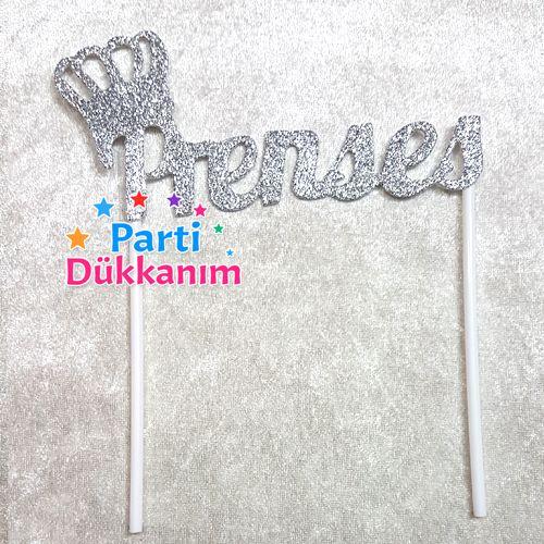 Prenses Simli Eva Pasta Süsü Gümüş (17x16 cm), fiyatı