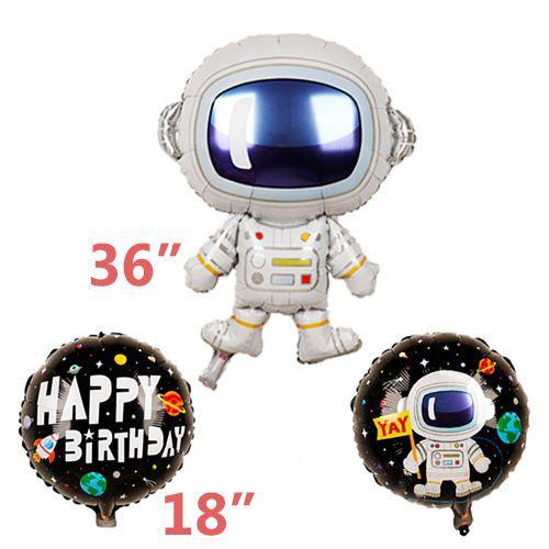 Uzay Folyo Balon 3'lü Set, fiyatı