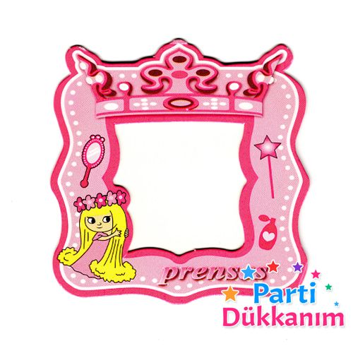 Prenses Fotoğraf Çerçevesi Magnetli (7,5x8,5cm) Pembe, fiyatı