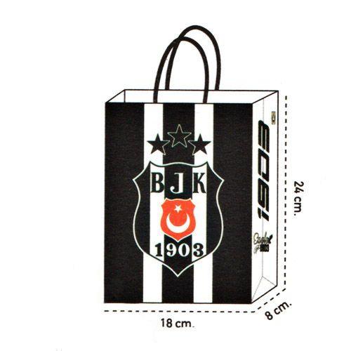 Beşiktaş Kağıt Hediye Çantası 1 adet (18x24), fiyatı