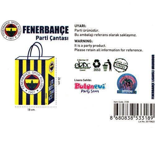 Fenerbahçe Kağıt Hediye Çantası 1 adet (18x24), fiyatı