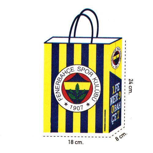 Fenerbahçe Kağıt Hediye Çantası 1 adet (18x24)